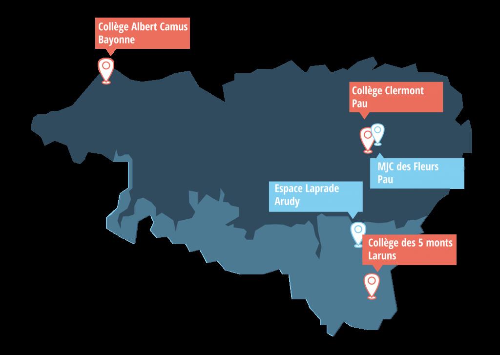 carte des lieux de formation aux compétences numériques clés
