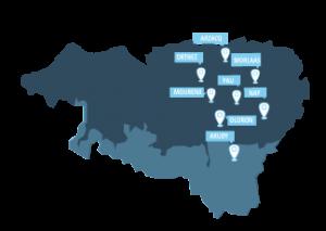 carte lieux HSP Bearn