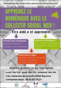 Ateliers numériques pour tous.tes à Bayonne @ Collectif Social Web